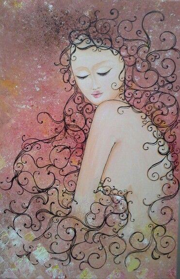 Nanyang girl -Acrylic on canvas -$199 -worldwide shipping