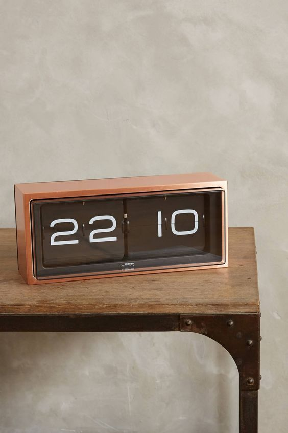 The Brick clock by Leff Amsterdam is a bold piece of vintage design reinvented for the 21st century by one of their in house designers Erwin Termaat. A 24 hour vintage style flip clock, reinvented and redesigned, with a unique combination of materials and graphics this superb modern clock is the a great accessory for any room in your home.  The case is welded and brushed by hand which gives this clock a high level of craftsmanship. This clock can be displayed on a desk or hung on the wall.
