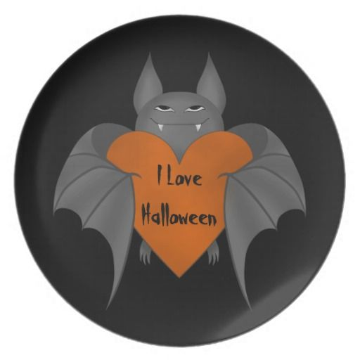 Just sold this funny amorous #Halloween #vampire_bat melamine plate. Perfect for serving up treats on the dessert table. Every sale of these helps a single unemployed mom get on her feet.