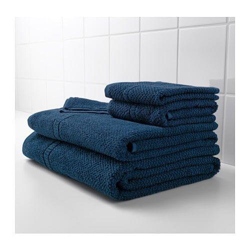 Frajen Essuie Mains Bleu Fonce Ikea Drap De Bain Serviettes Blanches