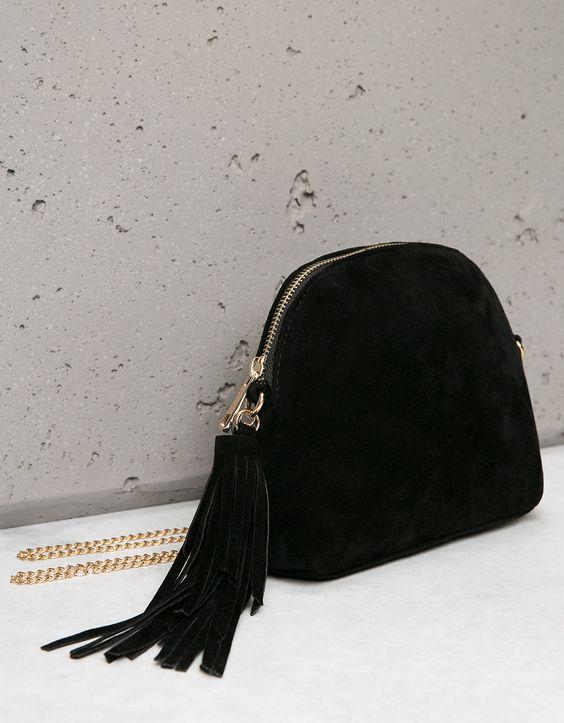 *BERSHKA || Suede mini bag | Mini bolso de ante