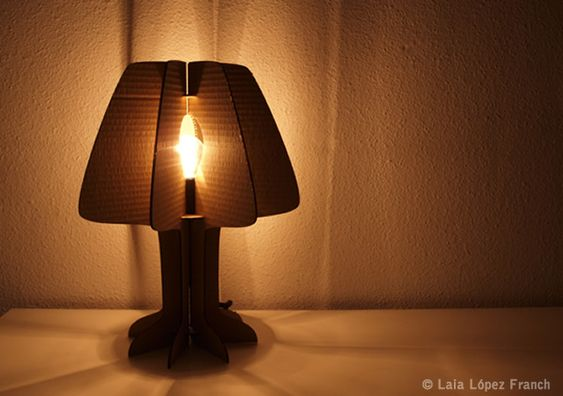 Eco-Lamp...made from recycled cardboard