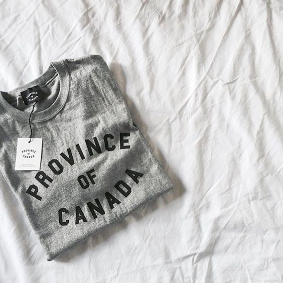 The grey tee that started us off. Designed in Canada, made in Canada.👊📷@pocketful.of.posie | provinceofcanada.com