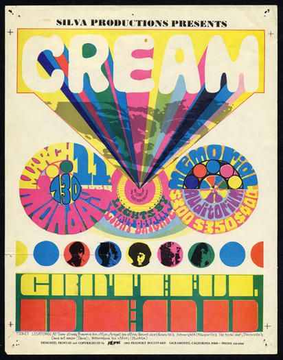 Cream and Grateful Dead in Sacramento, 1968: Dead Sacramento, Concert Posters Music, Posters Musica, Posters 60 S Concert, Cream Grateful, Posters Music Movie Art, Music Posters, 1968 Cream, Psychedelic Concert Posters