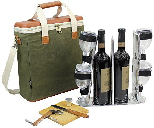 Eva Molded 3 Bottle Wax Canvas Wine Cooler Bag Insulated Https Www Amazon Com Dp B0785pcwn6 Ref Cm Sw R Pi Wine Carrier Wine Carrier Bag Beverage Cooler