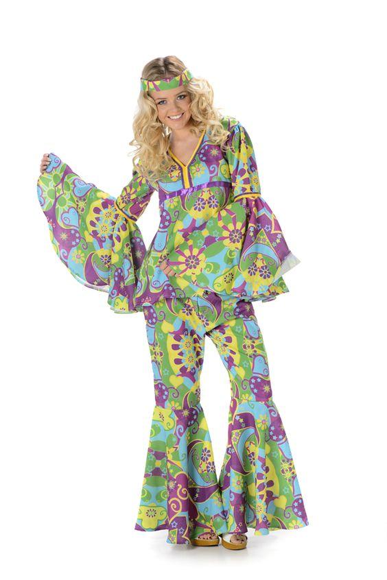 Flower Power Hippie Kostuum Dames