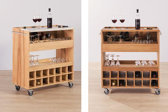 Image result for modern drinks trolley