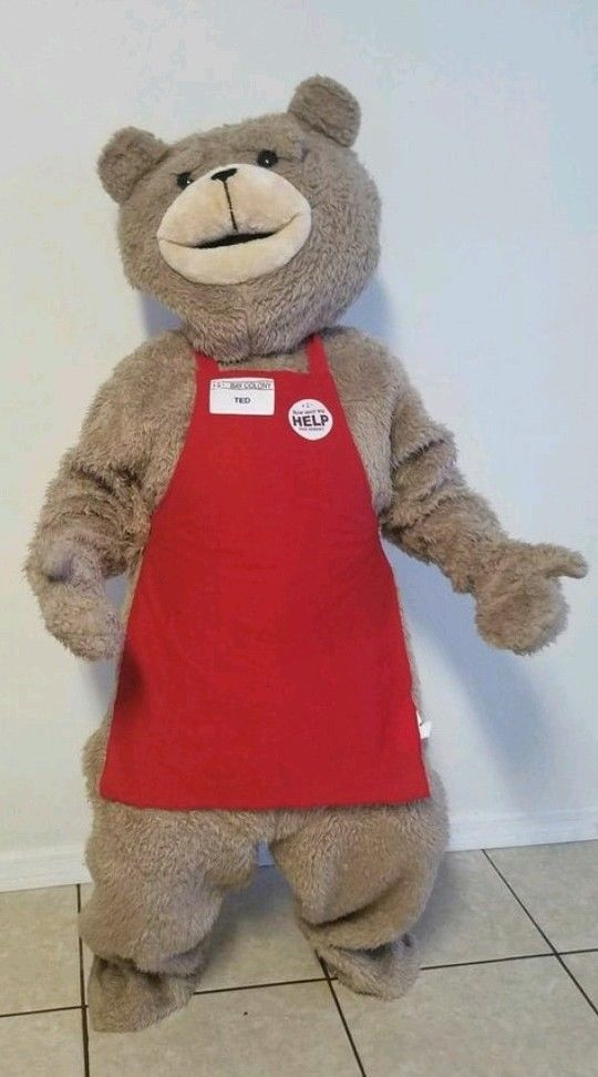 Teddy Bear of TED Adult Size Halloween Cartoon Mascot Costume Fancy Dress