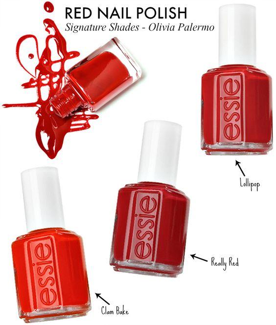 Olivia Palermo Style Red Nail Polish Essie Lollipop Clam
