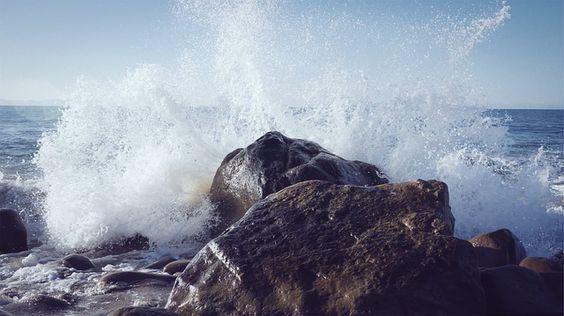 Wave, Rock, Spray, Wild, Nature, Water, Ocean, Coast