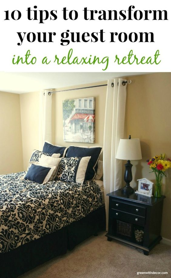 Tips to transform your guest bedroom green bedrooms and the o 39 jays - Tips relaxing bedroom ...