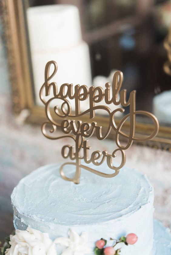 Happily Ever After Cake Topper by: BlackLabelDecor