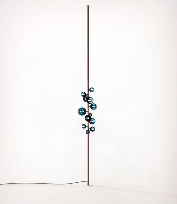 damien langlois meurinne bronze and glass totem tension lamp for pouenat gallery bright special lighting honor dlm
