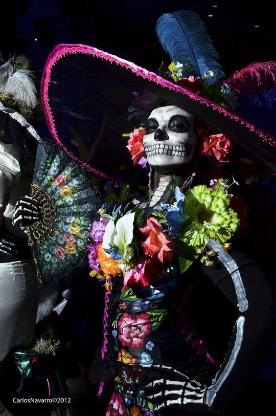 La Catrina. [ MexicanConnexionForTile.com ] #DayoftheDead #Talavera #handmade: