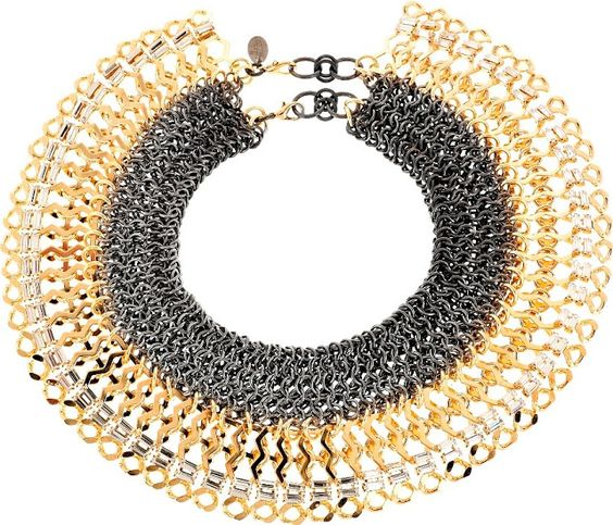 Statement necklace that can be worn with everything. Invest in this Erickson Beamon one, it'll never get old…
