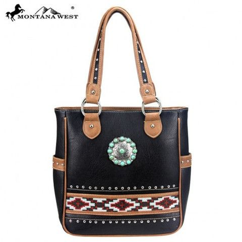 Montana West® Western Concho Collection Aztec Handbag