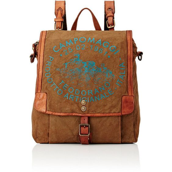Campomaggi Women's Logo Convertible Backpack (£280) ❤ liked on ...