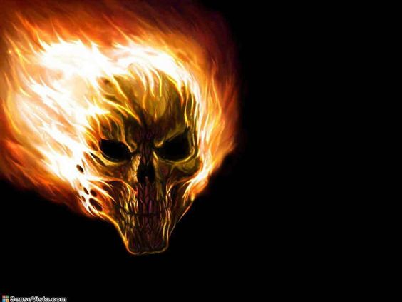 Flame Paintings  This is the hot skull fire flame danger