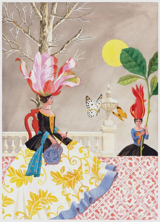 Harrison Howard, Flower and Shell People: On the Terrace: