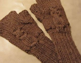 Eulenstulpen: Crocheting, Knit And