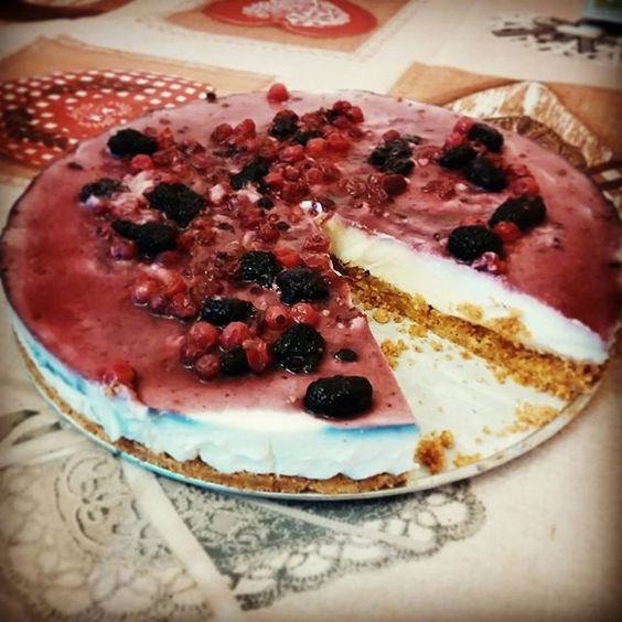 Cheesecake mascarpone, yogurt e frutti di bosco #cheesecake