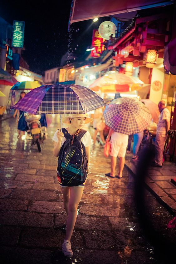 In the streets of Yangshuo