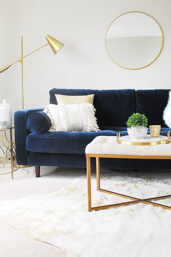 """The Sven sofa is so luxurious and it was simple to shop for. Article has modern style high-quality furniture that is shipped directly to you. They have lower prices than you would find at other furniture retailers because they don't have showrooms or salespeople and the online process is easy."" Photo by Eleven Magnolia Lane."