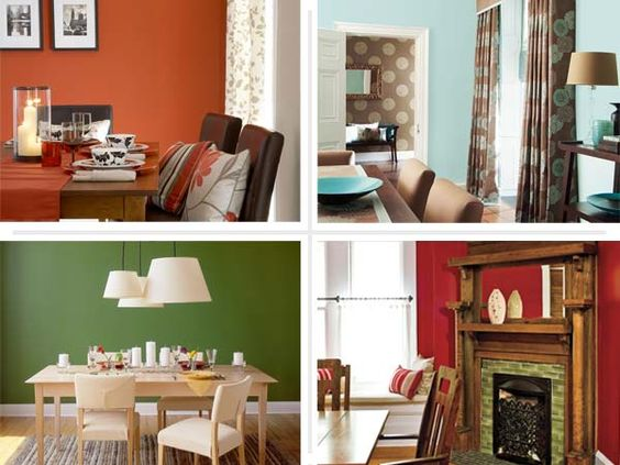 Best colors for dining room drama house interiors for Bold dining room colors