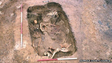 The warrior and horse were found at RAF Lakenheath in 1997