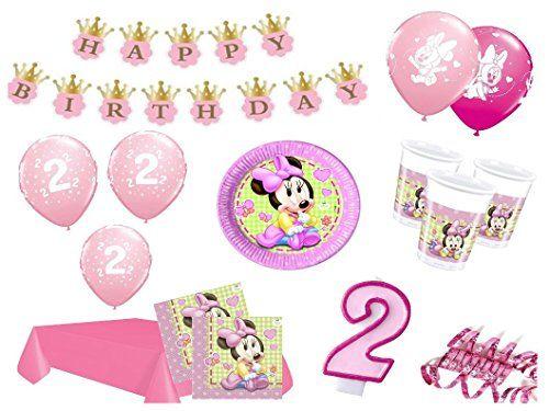 Xxl Party Deko Set 2 Geburtstag Minnie Baby Kindergeburtstag Fur