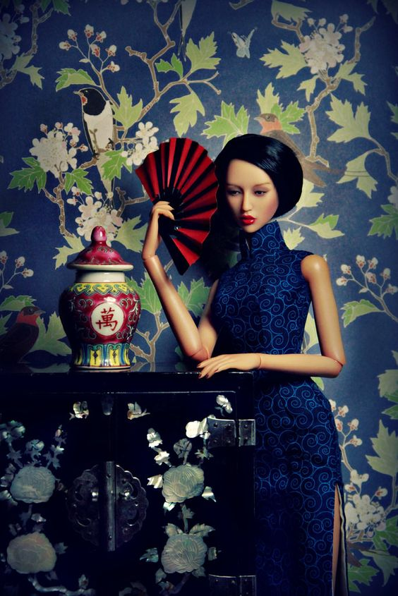 Qipao Dress by Laurence Boissieux.
