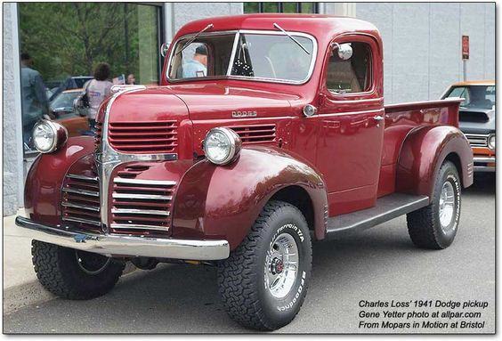 1941 Dodge Pickup......someday......  http://www.allpar.com/model/ram/ram-history.html