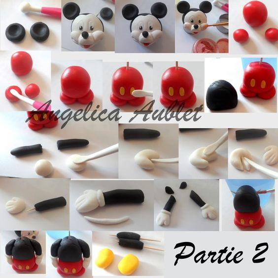 Mickey gumpaste tutorial by angelica for Angelica cake decoration
