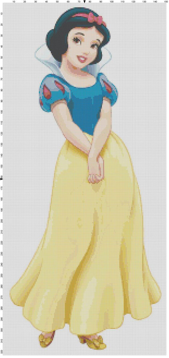 Snow White cross stitch pattern PDF