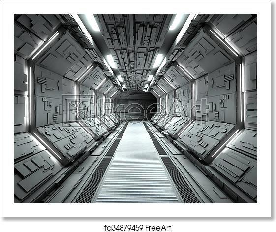 Free Art Print Of Futuristic Spaceship Interior Spaceship