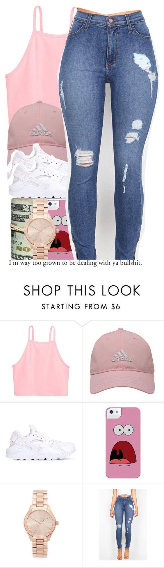 """For realz......"" by alondrauribe ❤ liked on Polyvore featuring adidas Golf, NIKE and Michael Kors"