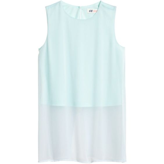Sleeveless Chiffon Blouse $14.99 ($15) ❤ liked on Polyvore featuring tops, blouses, button blouse, blue top, chiffon tops, blue sleeveless blouse and sleeveless button blouse
