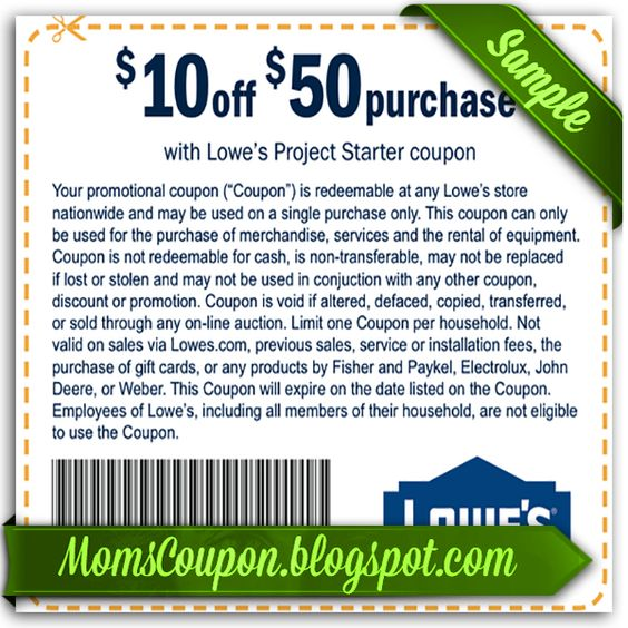 Lowes printable coupon 10 off 25 2015