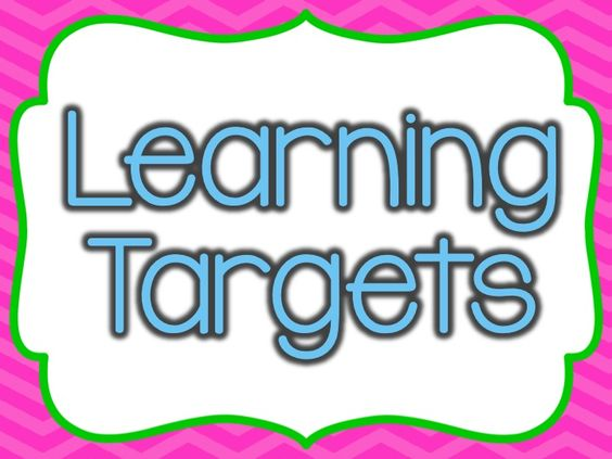6 learning targets posters in bright colors ($)