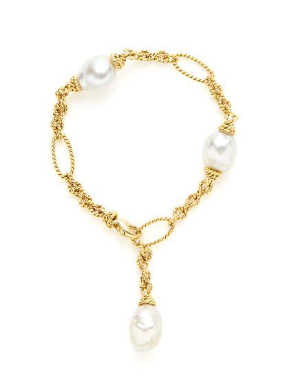 Piranesi White Baroque South Sea Pearl Station Bracelet