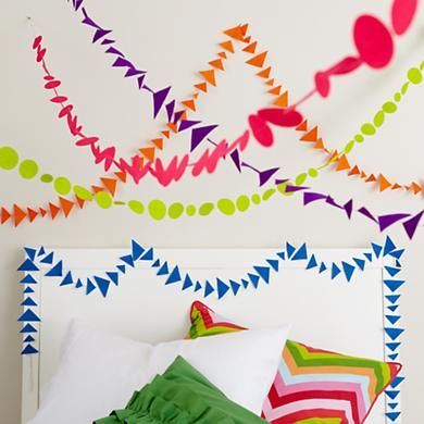 Colorful Shape Triangle Garland in Hanging Décor