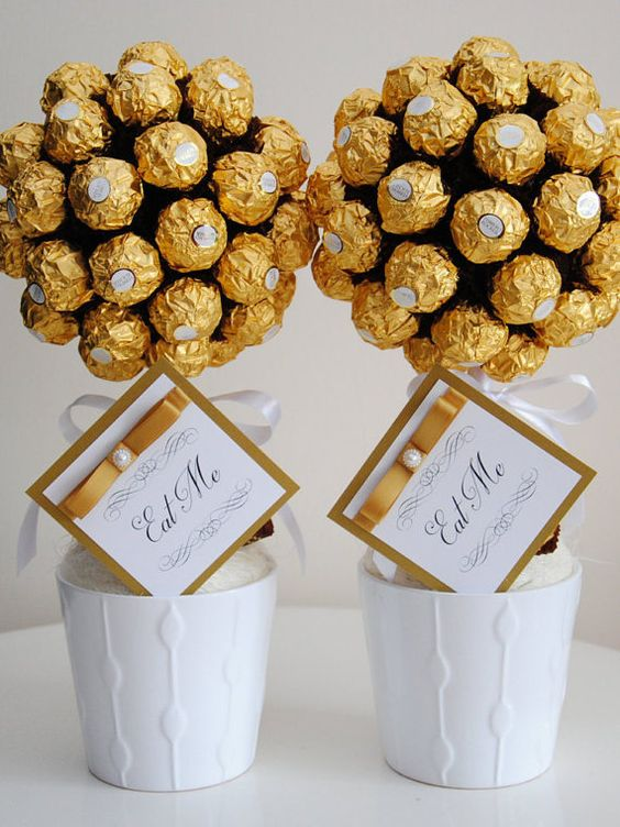 Ferrero rocher sweet tree handmade unique gift by SweetestGiftsUK: