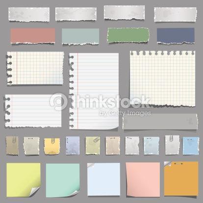 Various notes paper : Vektorgrafik