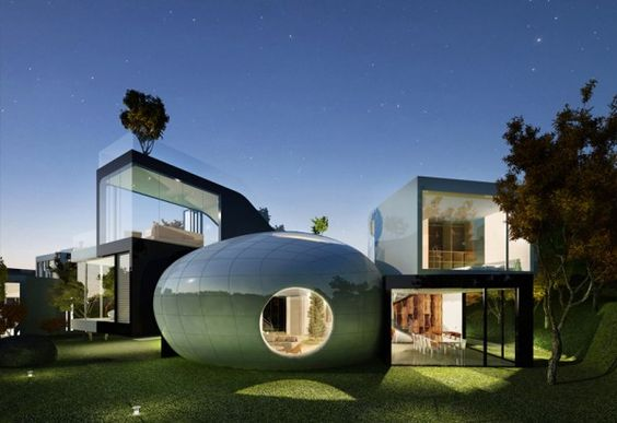 Futuristic Jeju Cocoon House by Planning Korea