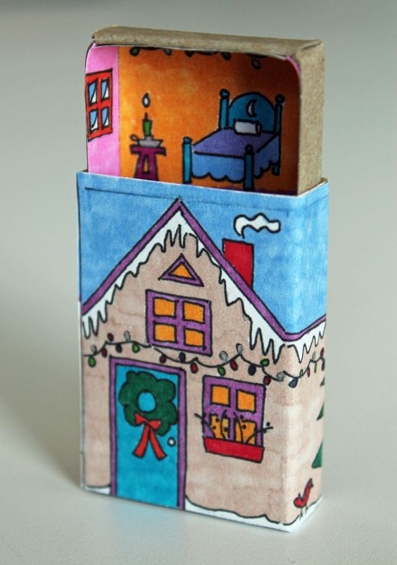 homemade city blog . love these match box houses: