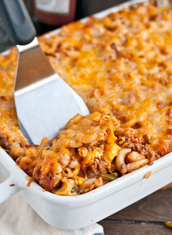 This Johnny Marzetti Casserole recipe is always a crowd pleaser!