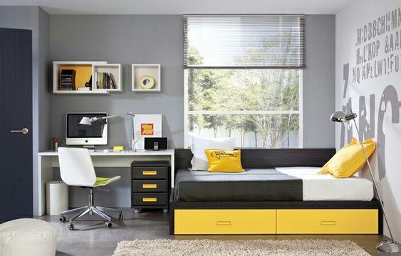 Dormitorio juvenil de chico cuarto jovenes pinterest - Decoracion dormitorio juvenil chico ...