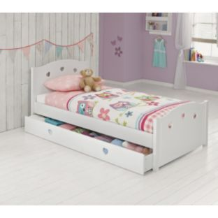 buy molly white single bed with finley mattress at argos. Black Bedroom Furniture Sets. Home Design Ideas