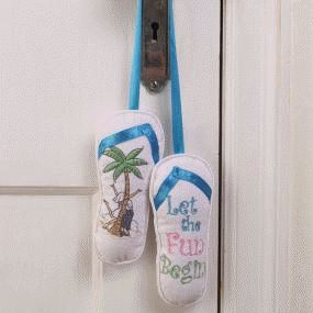 Let the Fun Begin Flip-Flop Door Hanger