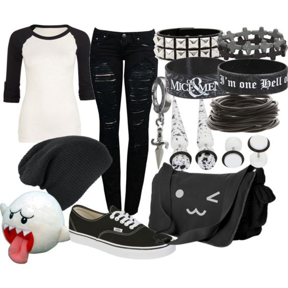 """""""Untitled #387"""" by littlemisstoxin on Polyvore OKAY WHOEVER MADE THIS OUTFIT LIKES BLACK BUTLER LOOK AT THE """"I'M ONE HELL OF A BUTLER"""" BRACELET I AM DYING AND THE OUTFIT IS CUTE WHO THE HELL MADE THIS THEY ARE MY TWIN"""